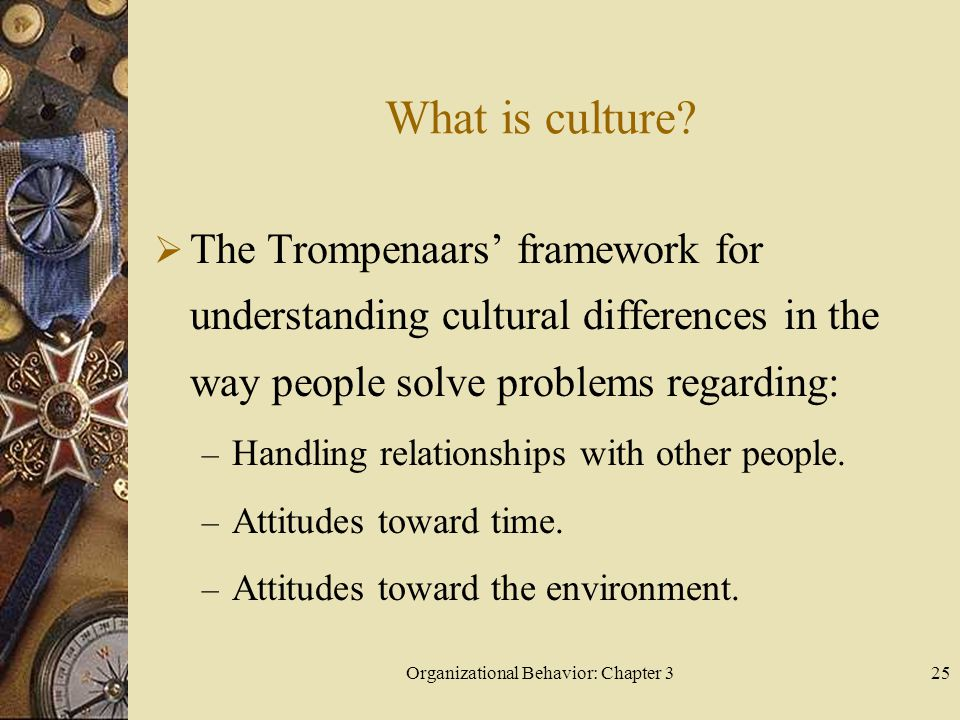 Organizational Behavior: Chapter 325 What is culture.