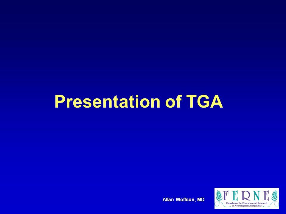 Allan Wolfson, MD Presentation of TGA