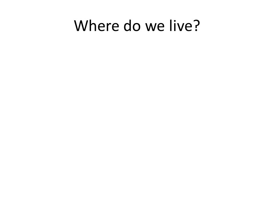 Where do we live?