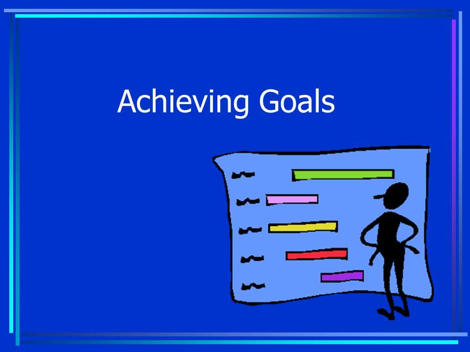 1. Set goals 2. Create action plans 3. Manage your goals