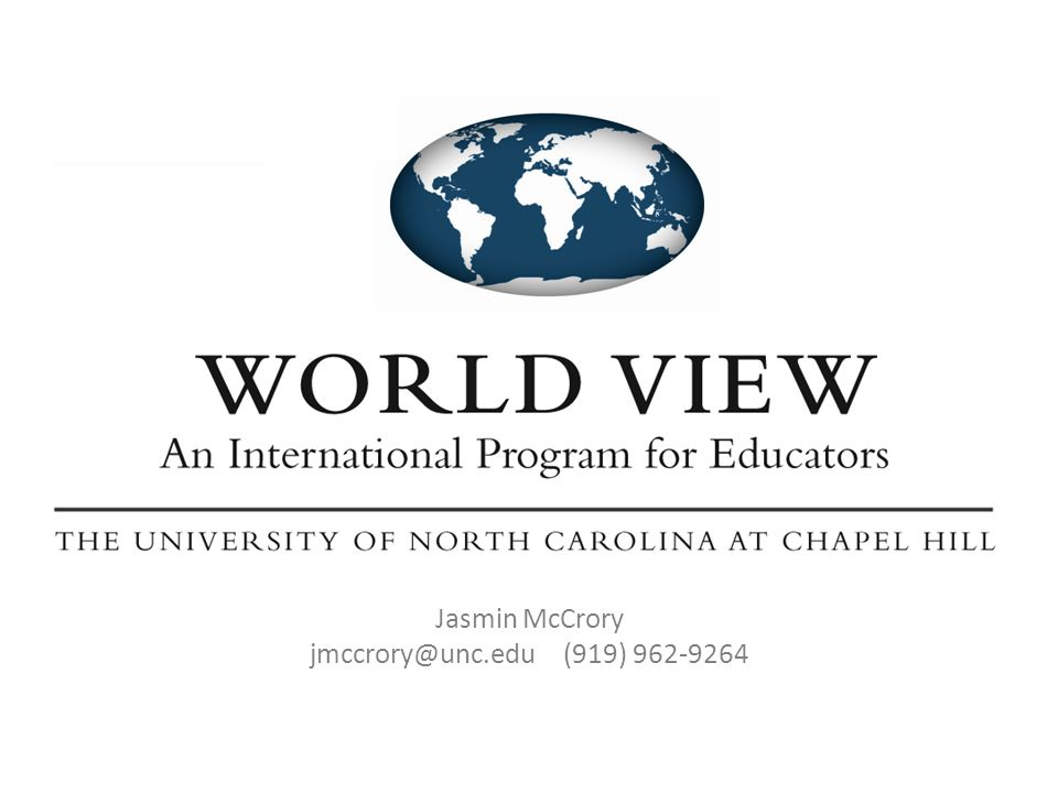 Jasmin McCrory jmccrory@unc.edu (919) 962-9264