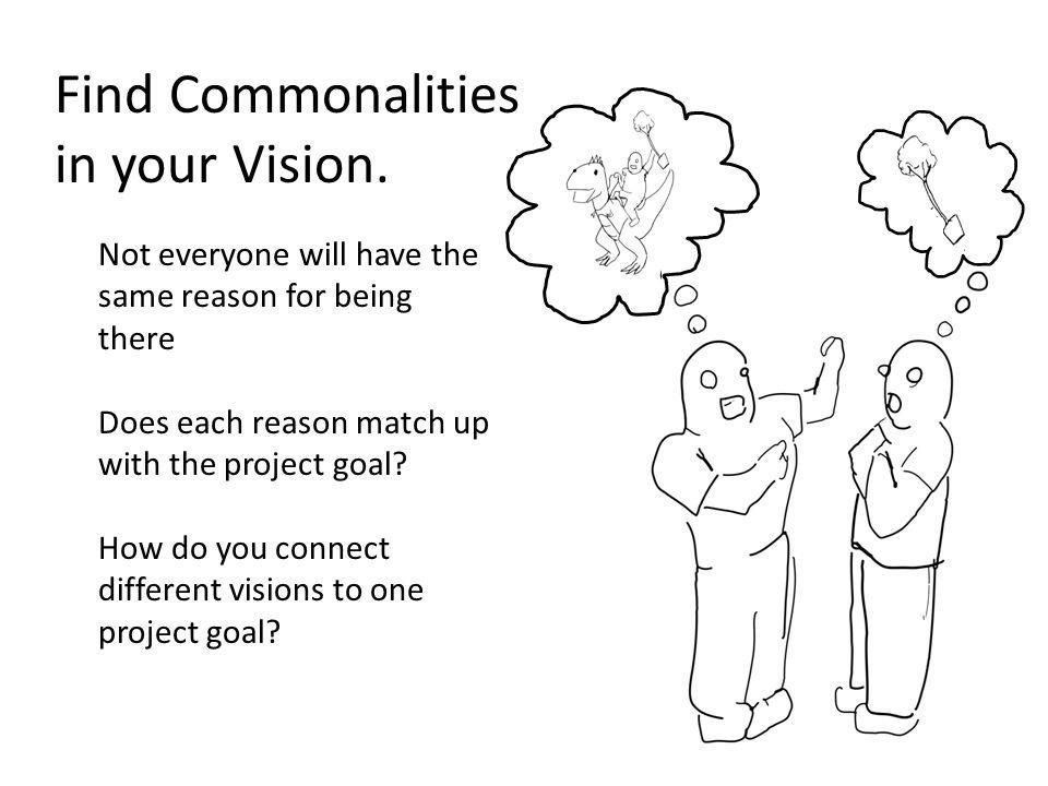 Find Commonalities in your Vision.