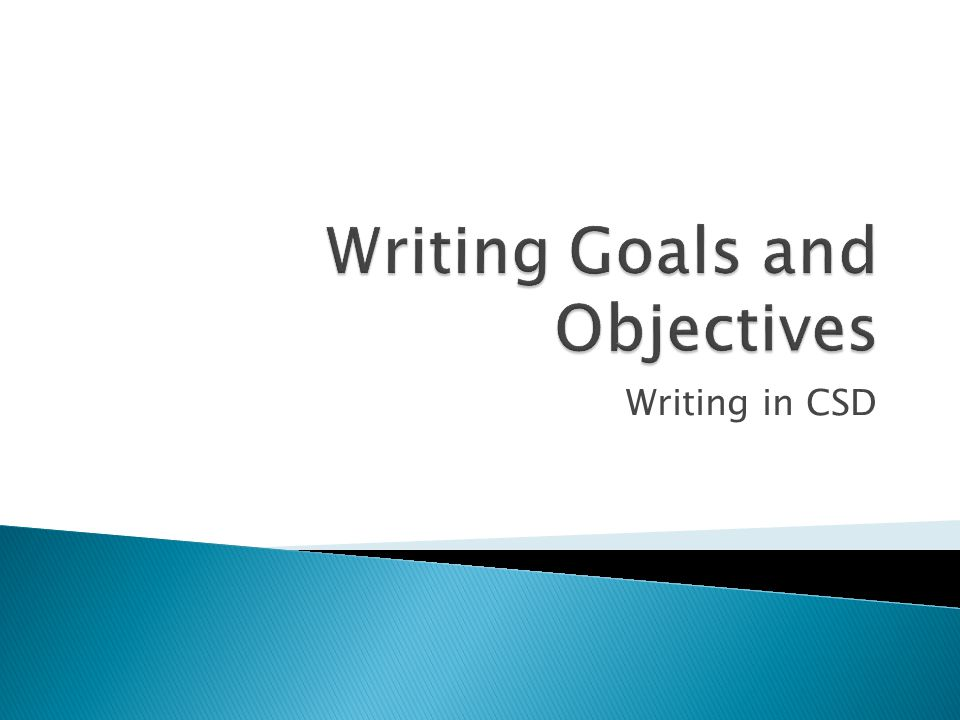Writing in CSD