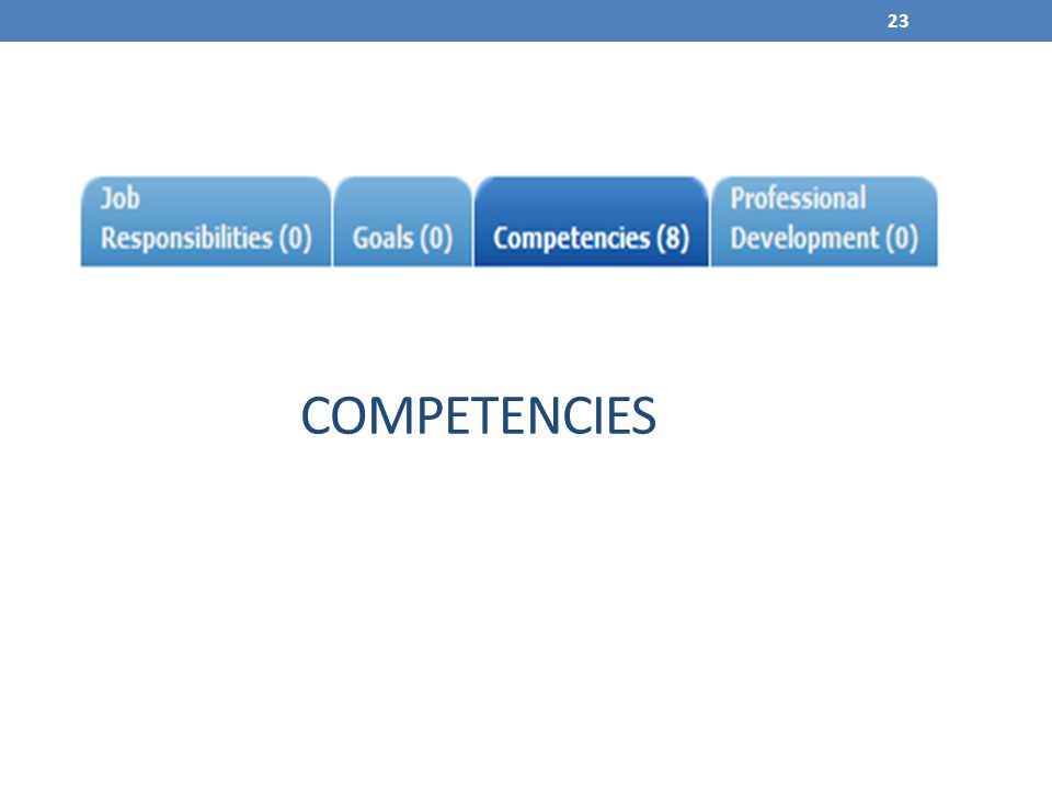 23 COMPETENCIES