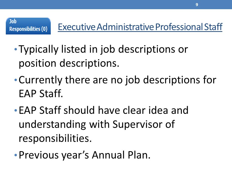 Clerical Office & Technical Staff Identified in job descriptions.