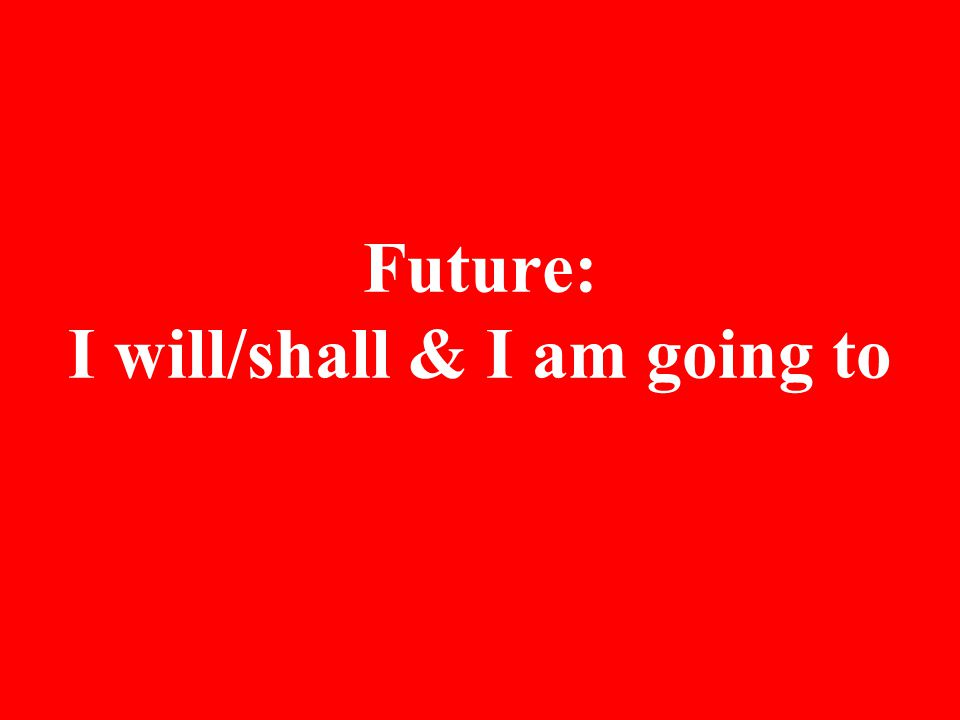 Structure: Subject+will/shall+verb(base form)+object