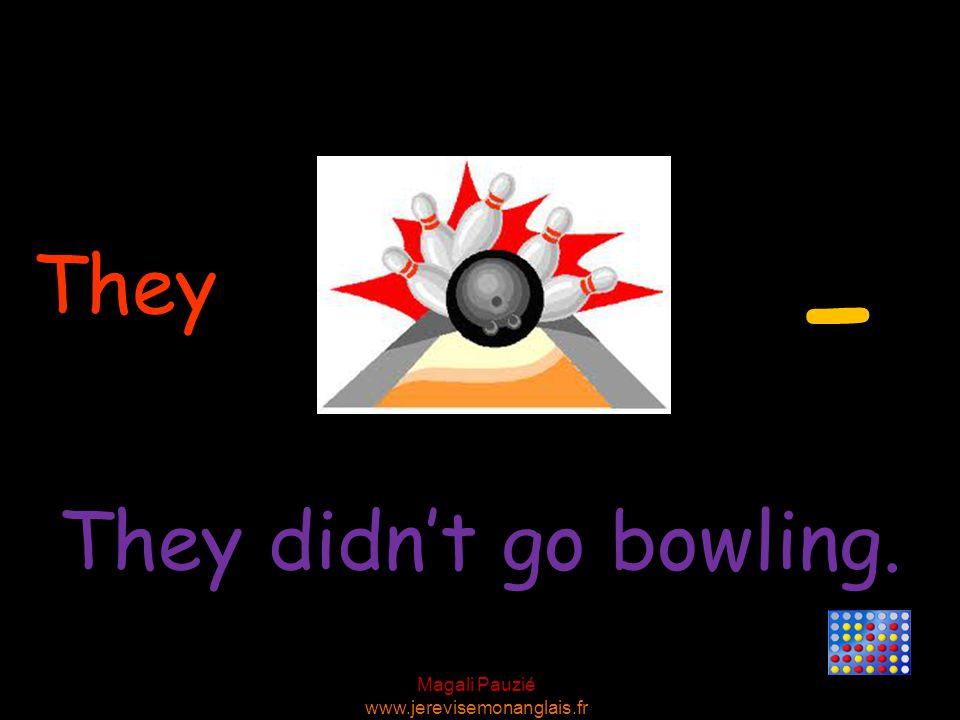 Magali Pauzié www.jerevisemonanglais.fr They They didn't go bowling. -