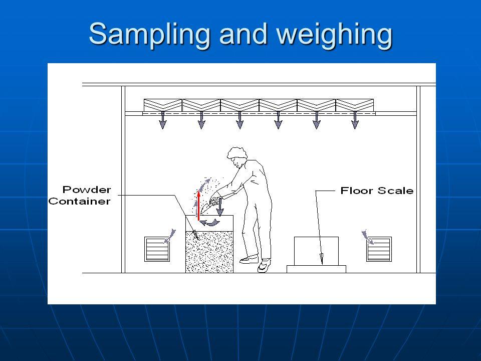 Sampling and weighing