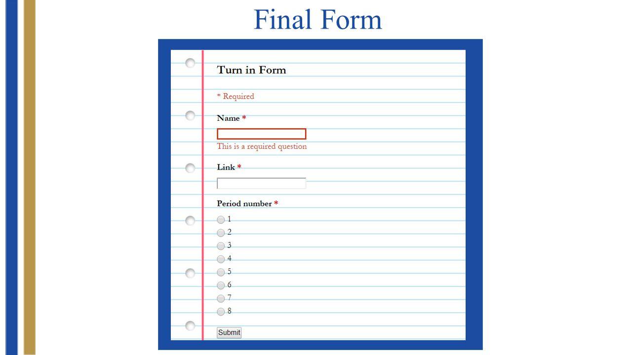 Final Form