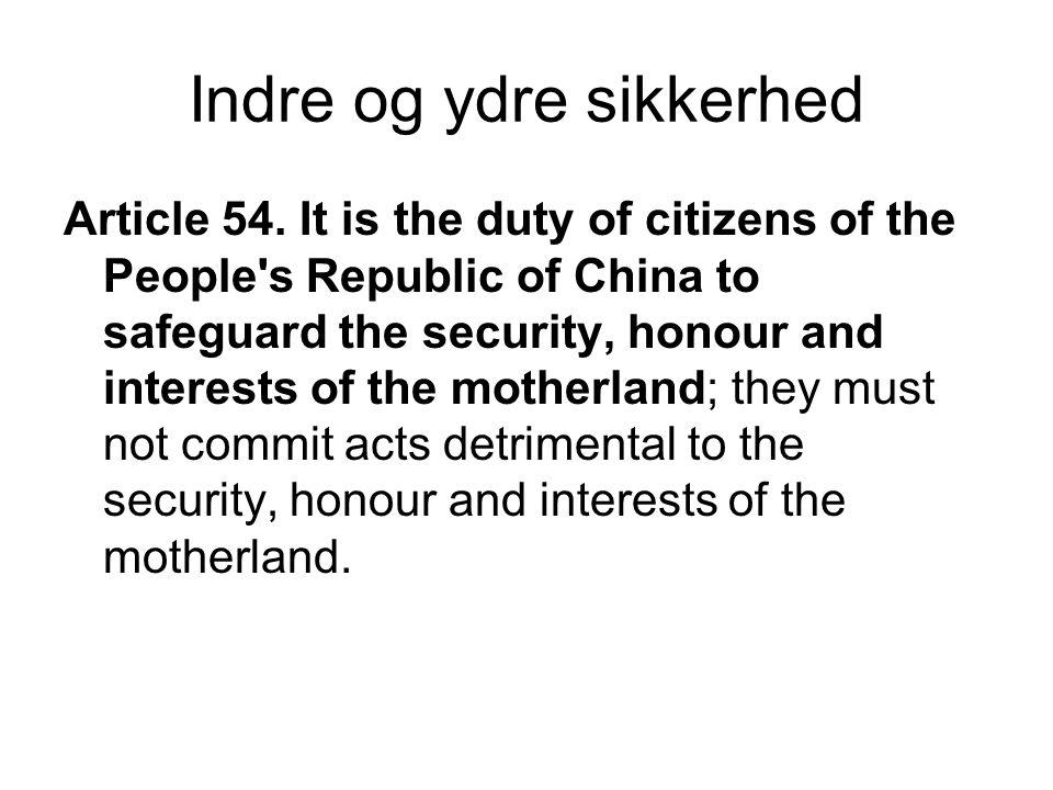 Indre og ydre sikkerhed Article 54.