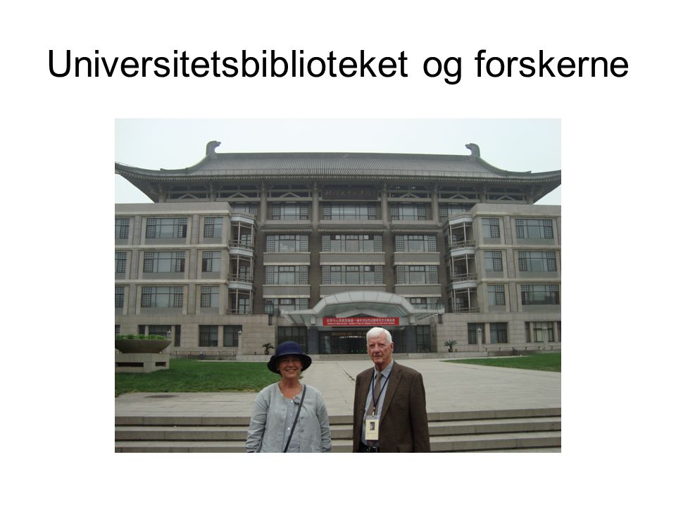 Universitetsbiblioteket og forskerne