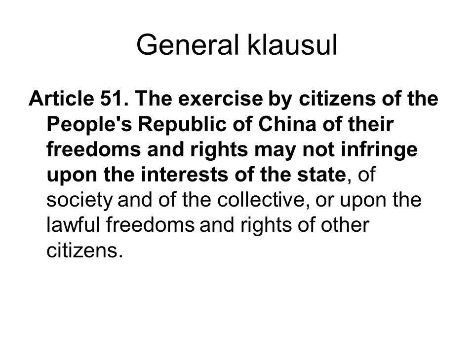 General klausul Article 51.