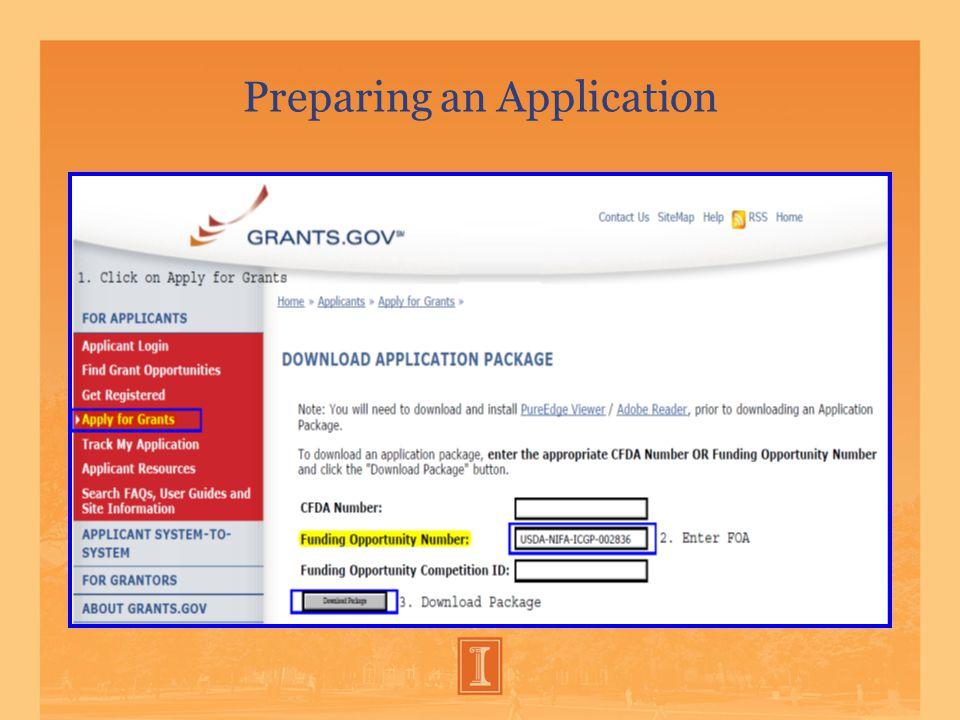 Preparing an Application