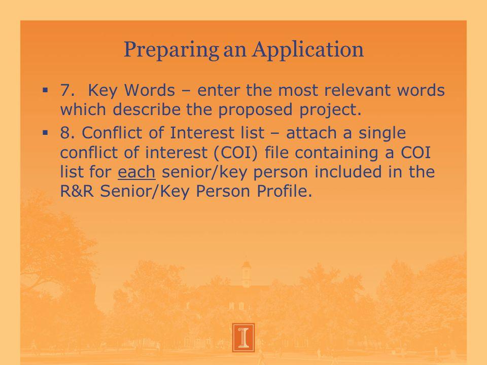 Preparing an Application  7.