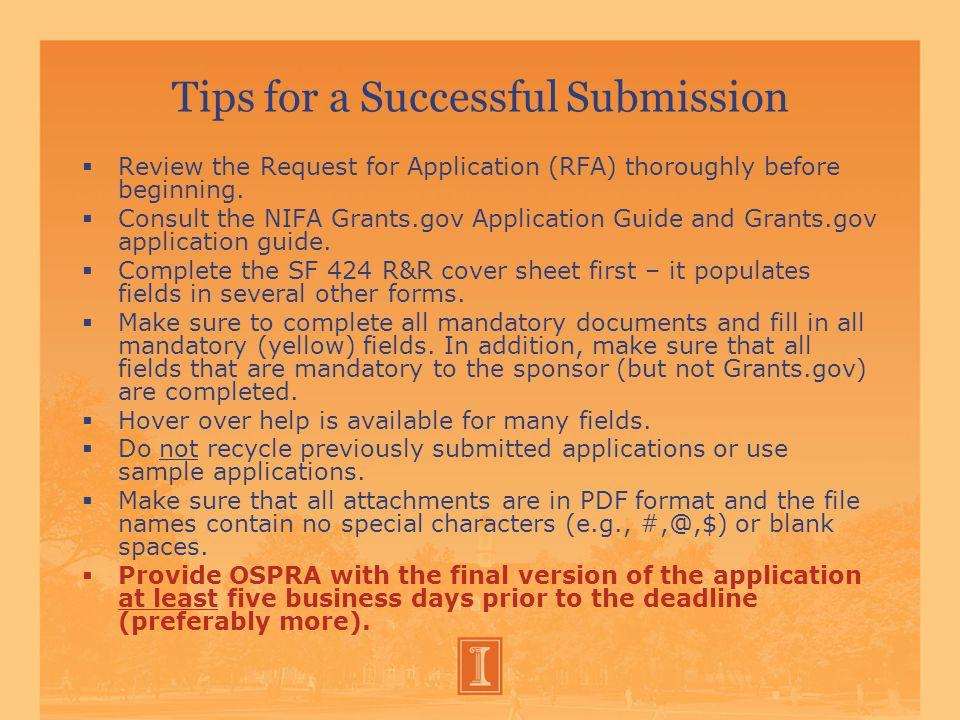 Preparing an Application  C.