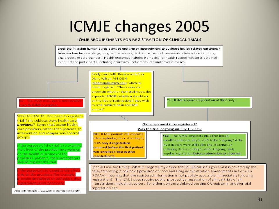 ICMJE changes 2005 41