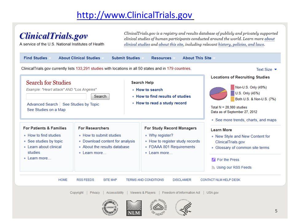 http://www.ClinicalTrials.gov 5
