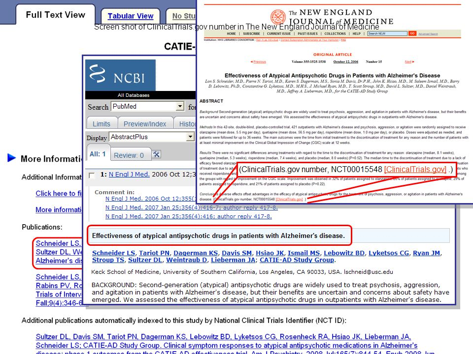 23 Screen shot of ClinicalTrials.gov number in The New England Journal of Medicine