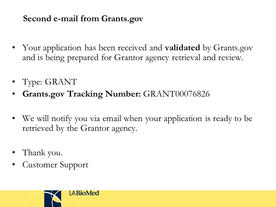 Your application has been received and validated by Grants.gov and is being prepared for Grantor agency retrieval and review.