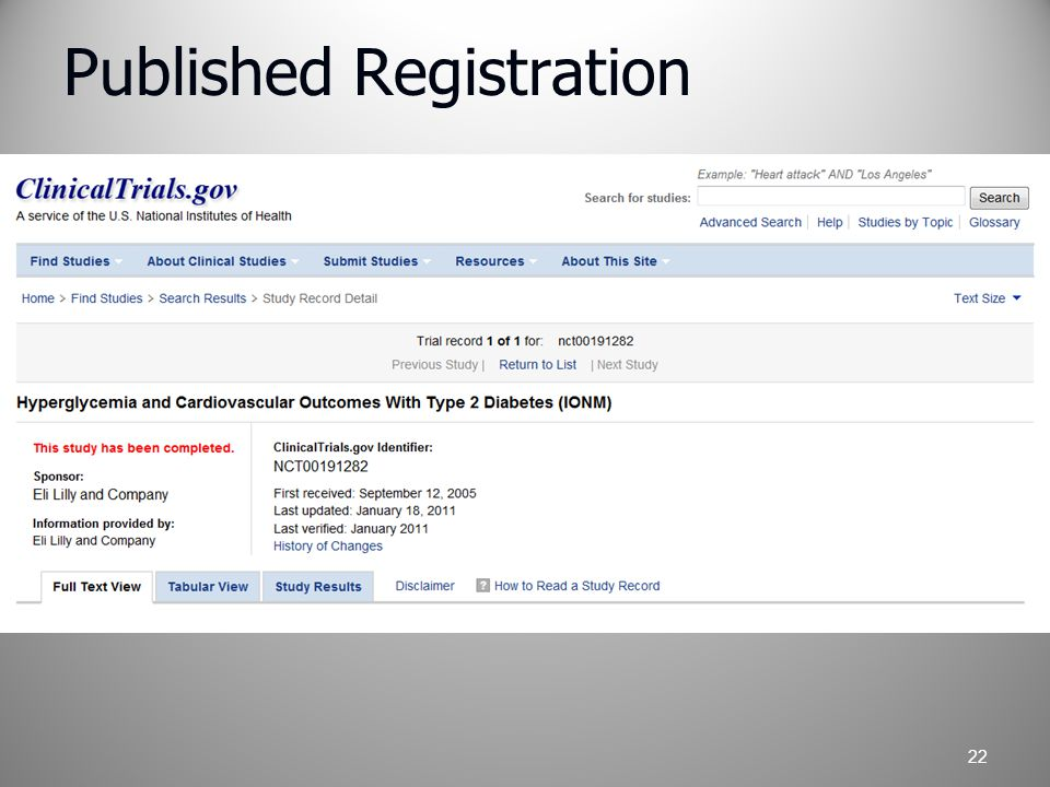 Published Registration 22