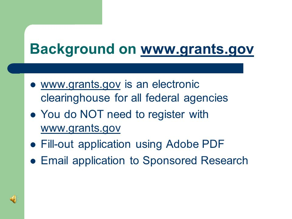 Steps To Submit 1. Read the funding announcement or request for proposals 2.