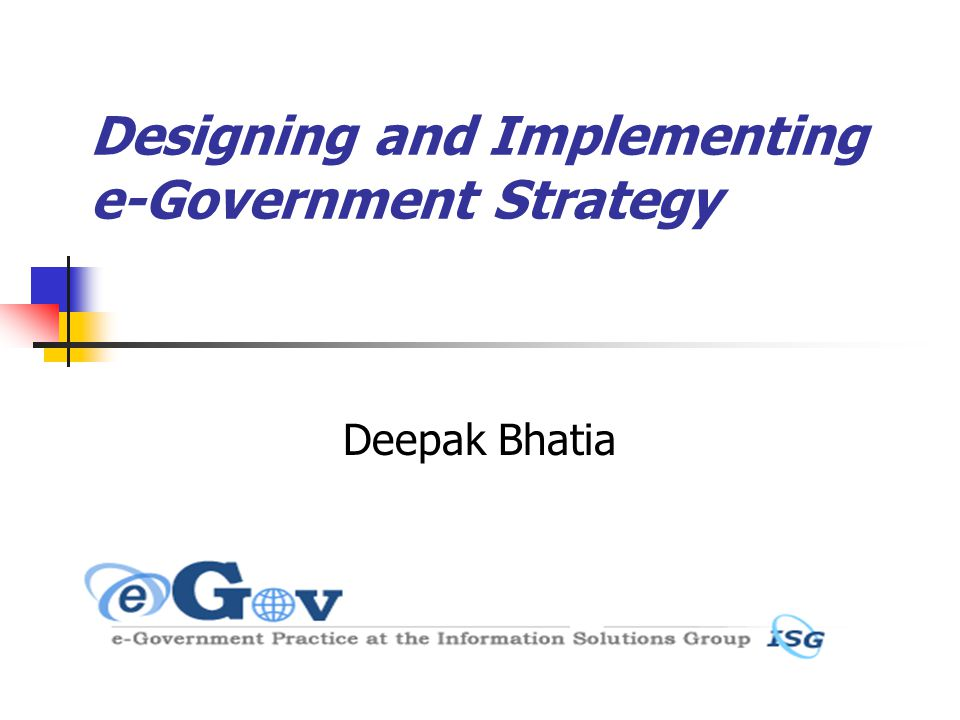 12 E-Government Strategy: Process (1) Define vision and goals Set up high level leadership task force Ensure consistency with economic development priorities Assess status quo and Secure political support Establish stakeholder participation mechanisms (including demand)