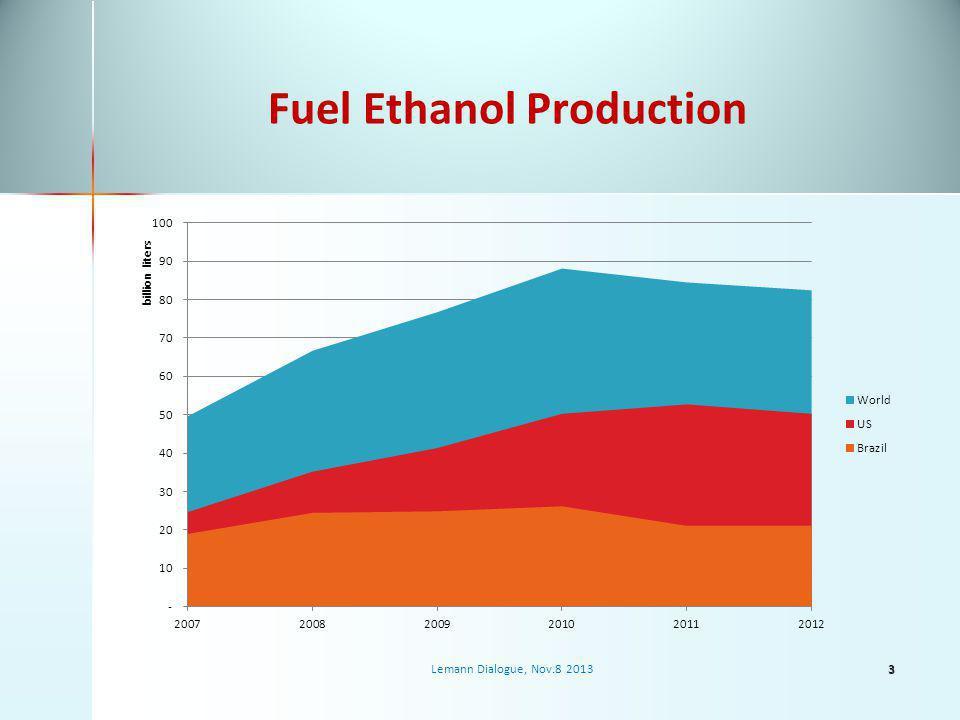 Fuel Ethanol Production Lemann Dialogue, Nov.8 20133