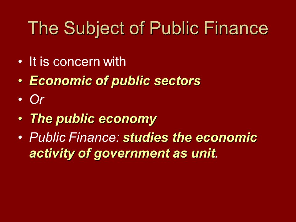Government as a Unit Analogous to person Analyzing economic activity of an individual: First StageFirst Stage: 1- How an individual earn an income and how much it is.
