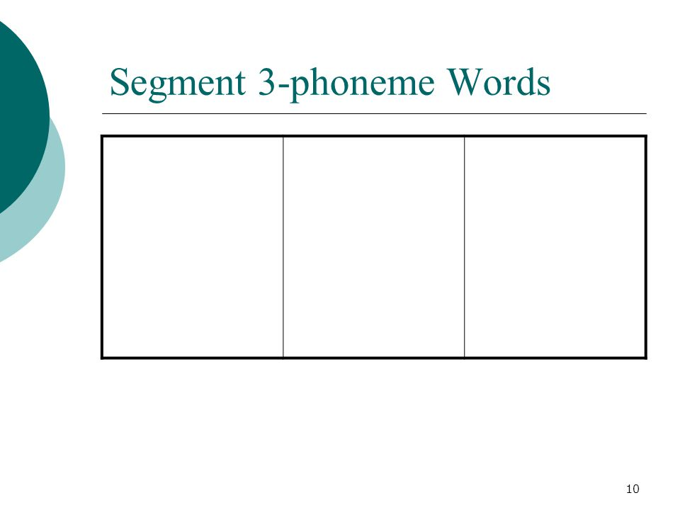 10 Segment 3-phoneme Words