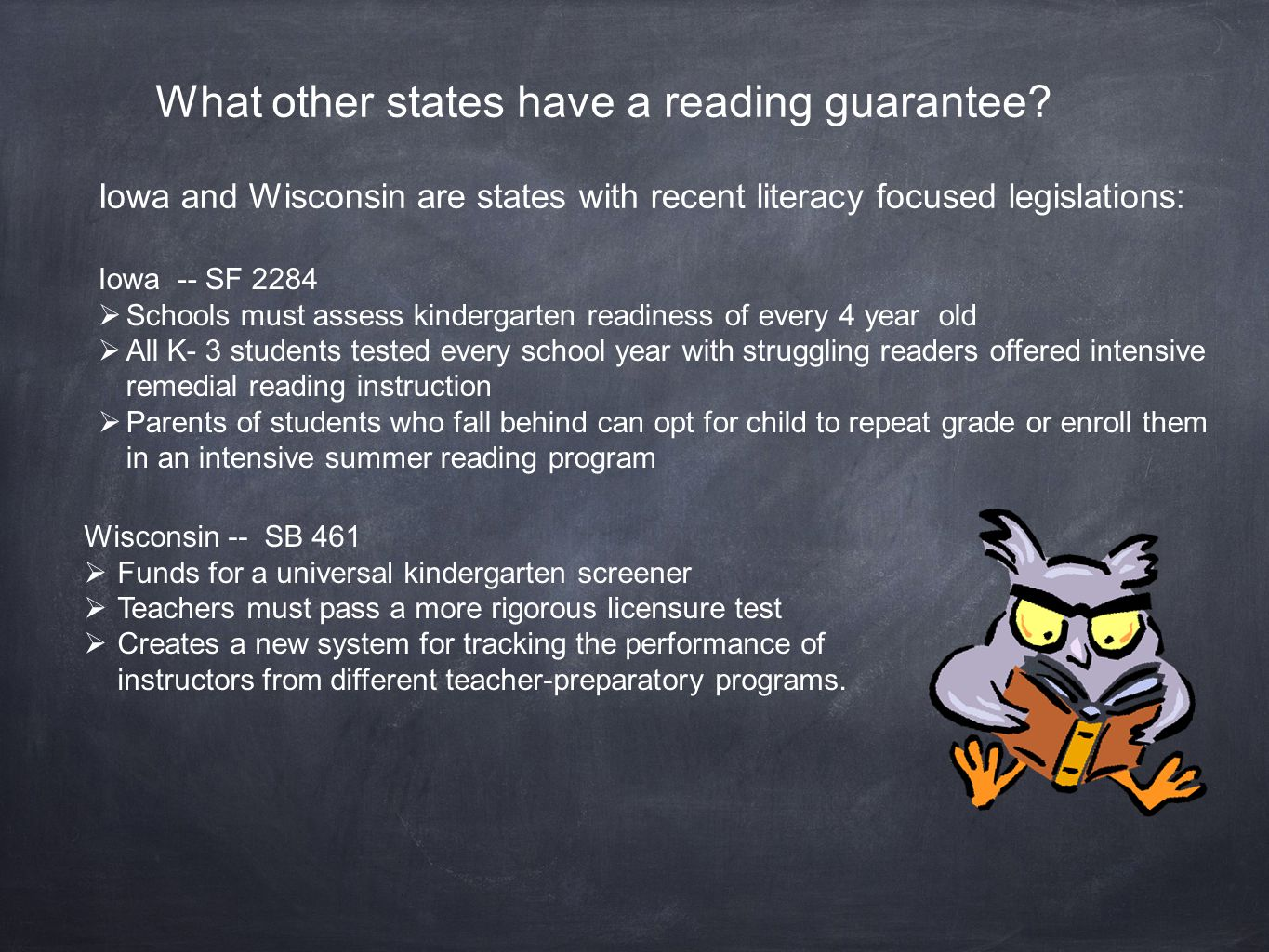 What other states have a reading guarantee.