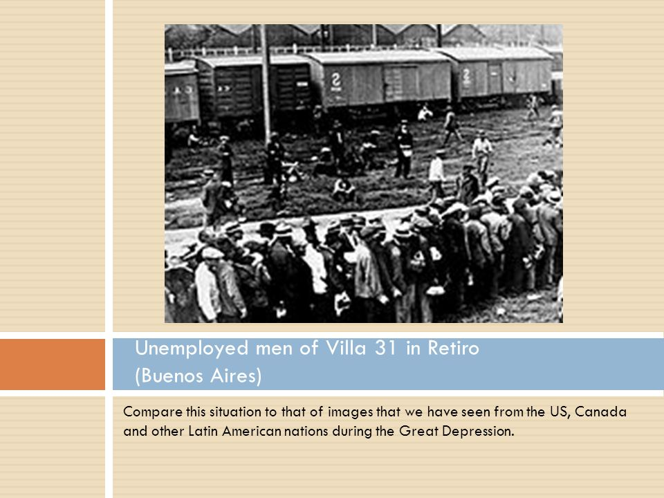 Compare this situation to that of images that we have seen from the US, Canada and other Latin American nations during the Great Depression.