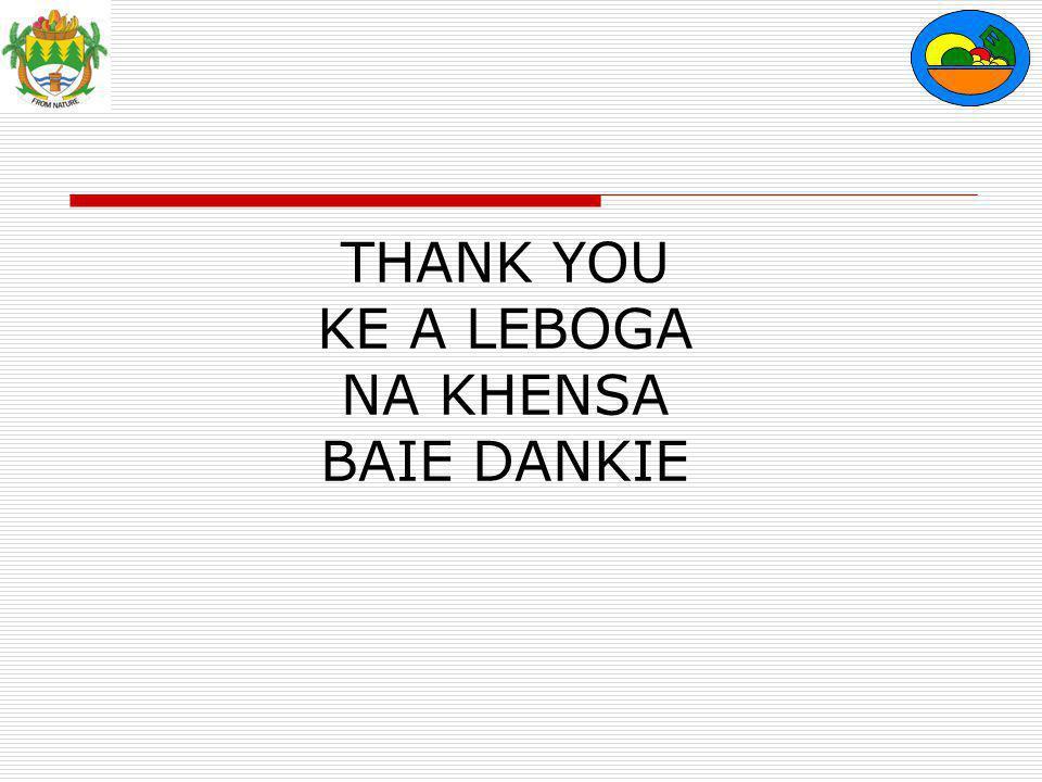 THANK YOU KE A LEBOGA NA KHENSA BAIE DANKIE