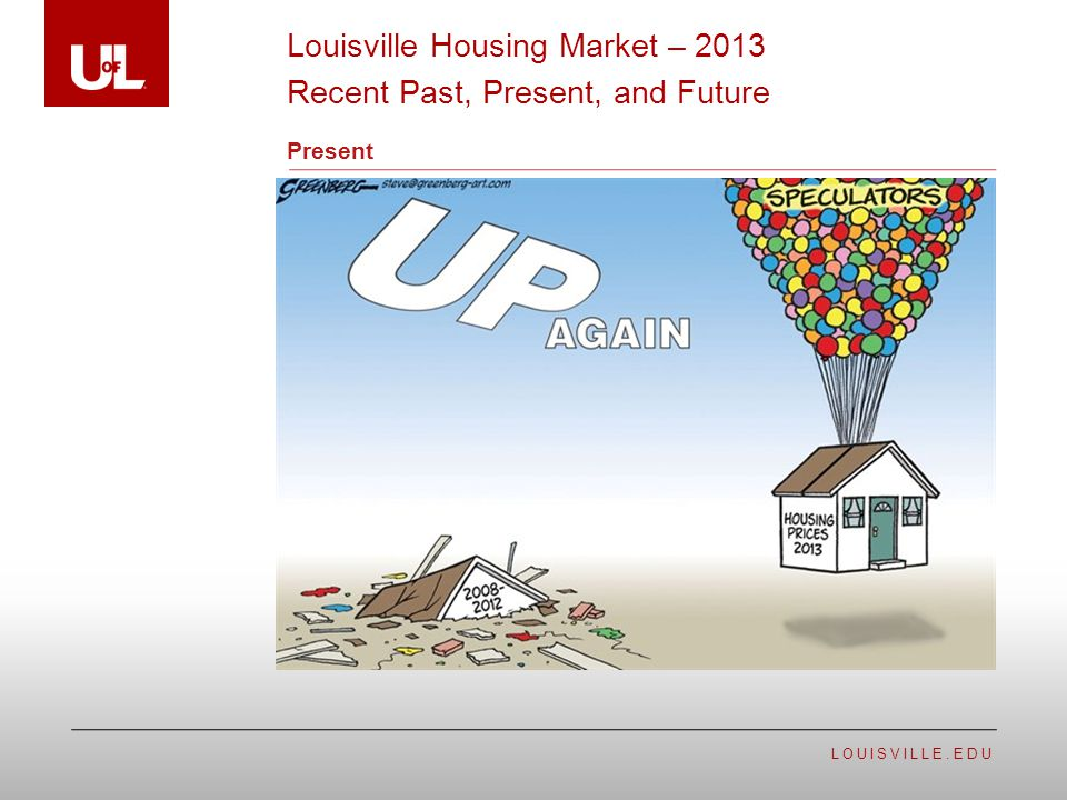 LOUISVILLE.EDU Present Louisville Housing Market – 2013 Recent Past, Present, and Future