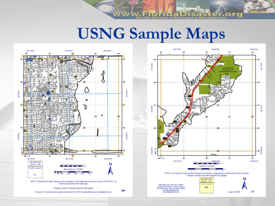 USNG Sample Maps