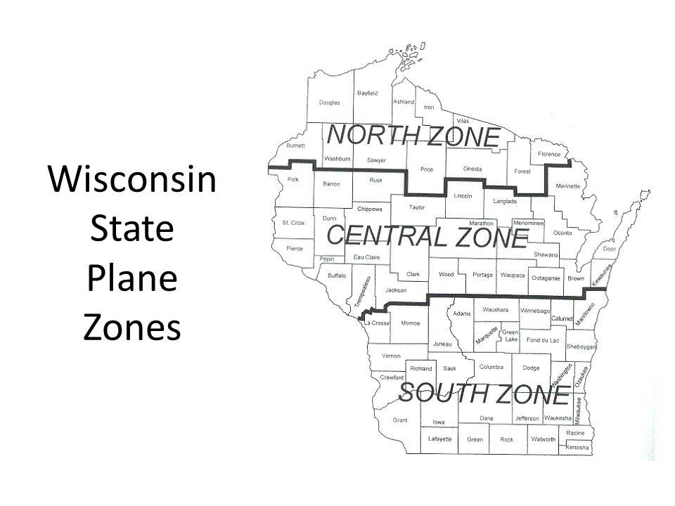 Wisconsin State Plane Zones