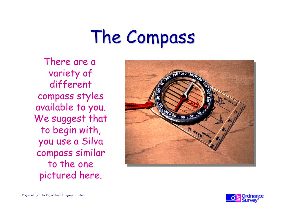 The Compass There are a variety of different compass styles available to you.