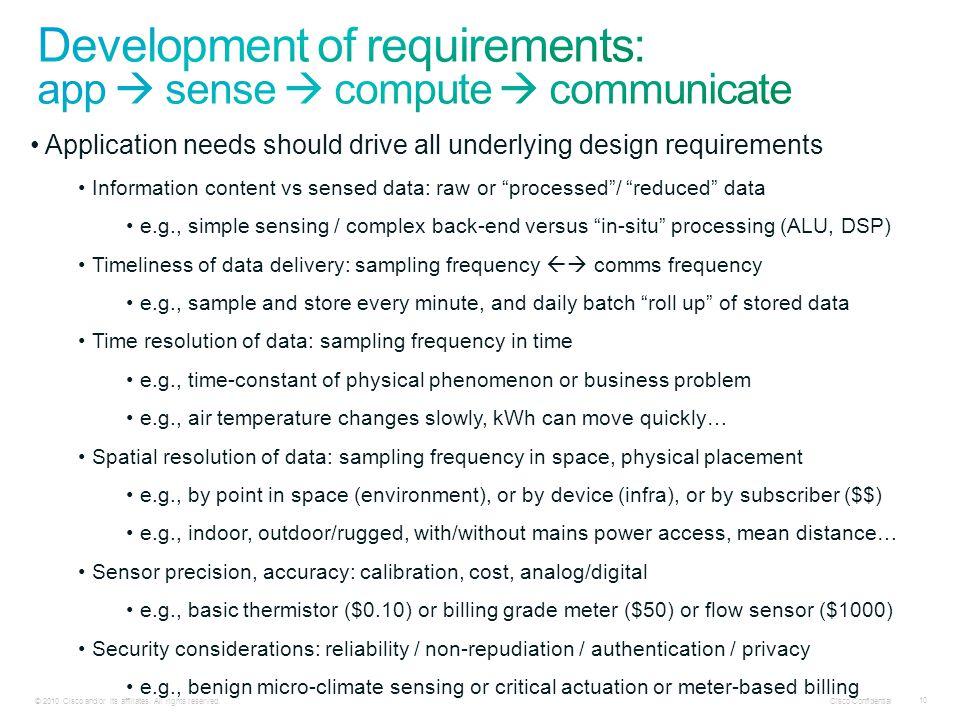 Cisco Confidential 10 © 2010 Cisco and/or its affiliates.