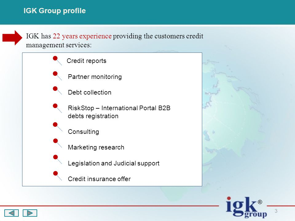 14 RiskStop Portal Some words about RiskStop Portal Please welcome on RiskStop Portal web site https://www.risk-stop.com to learn more about its possibilitieshttps://www.risk-stop.com ® It s an international web portal created to reduce the risk of non payments and fraud in B2B business.