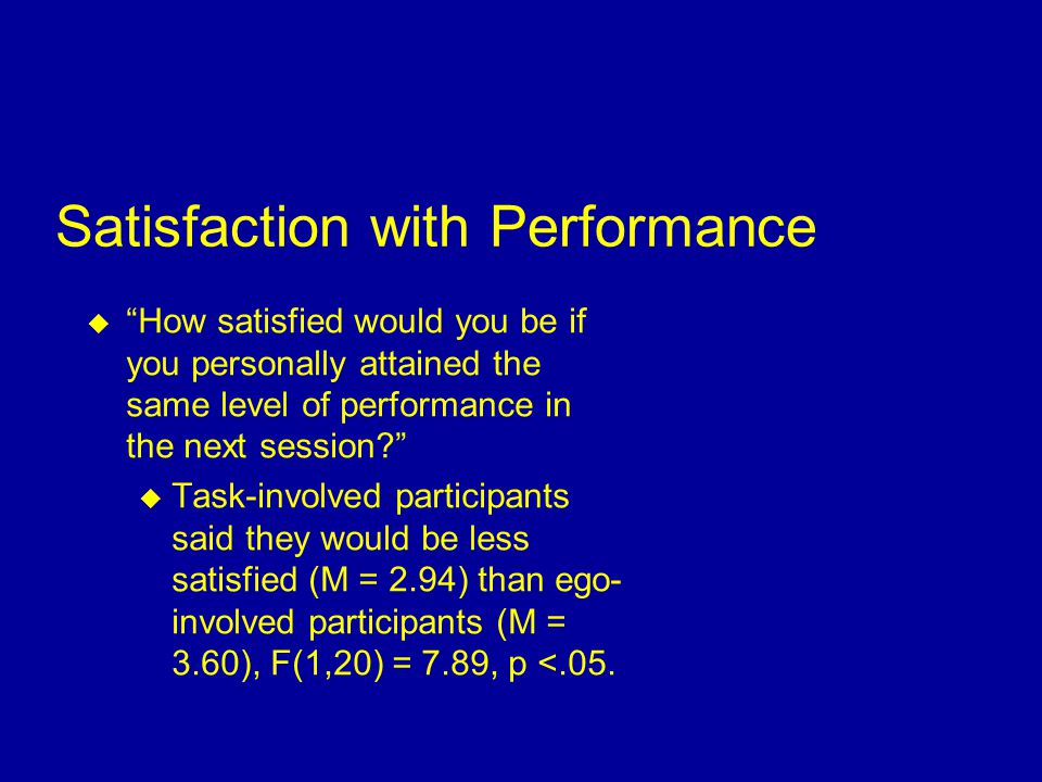 Relationship of Perceived and Actual Performance  There was a statistically significant relationship between perceived and actual performance for tas