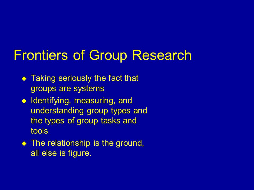  Group Process matters in predicting performance but perhaps not as much as perceived personal benefits  Greater technical heterogeneity of the group is conducive to higher group productivity  Group size is a crucial moderator of the effects of process, perceived benefits, and perceived management support Findings