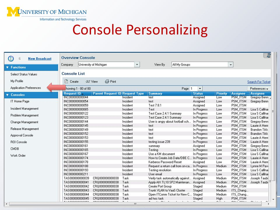 Console Personalizing