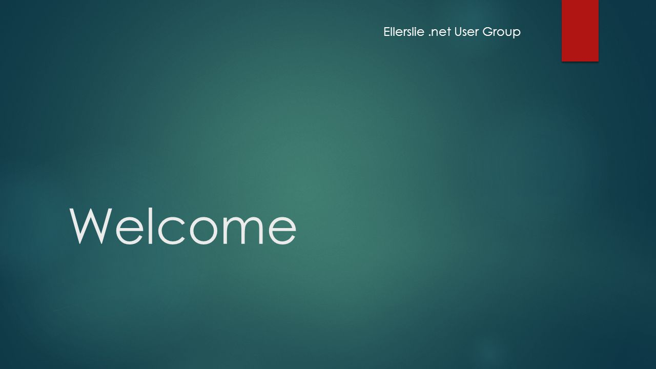 Welcome Ellerslie.net User Group