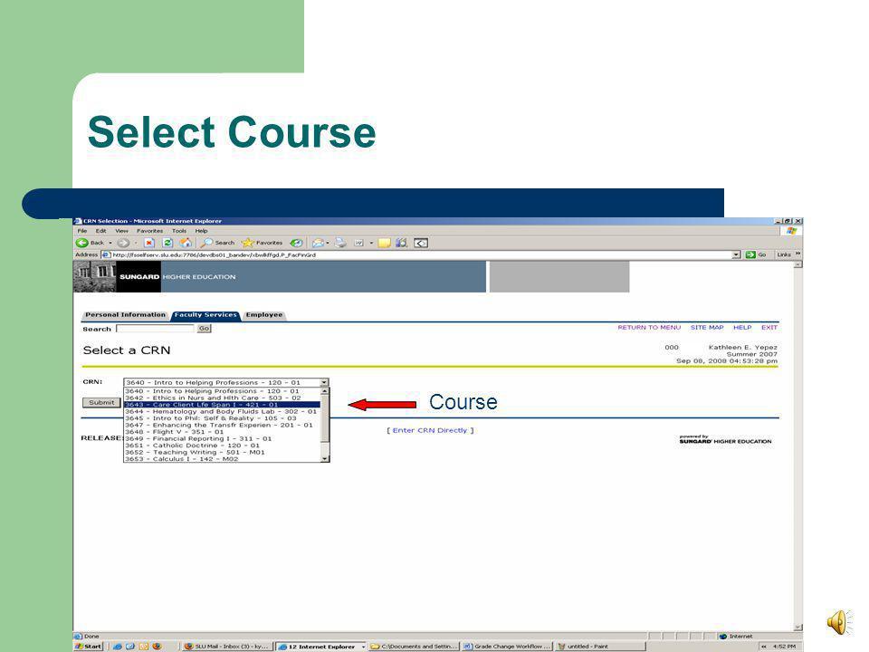 Select Course Course