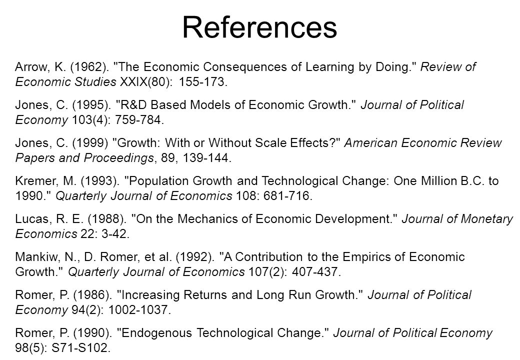 References Arrow, K. (1962).