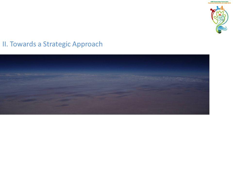 II. Towards a Strategic Approach