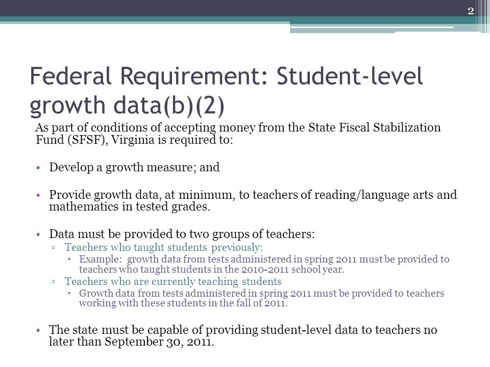 Teacher Evaluation – Measuring Progress in Student Achievement In March 2011, the Virginia Board of Education accepted for first review revised Uniform Performance Standards and Evaluation Criteria for Teachers.* These documents recommend that student academic progress account for a significant component of the evaluation (recommendation is 40 percent; six other performance standards comprise the remaining 60 percent).