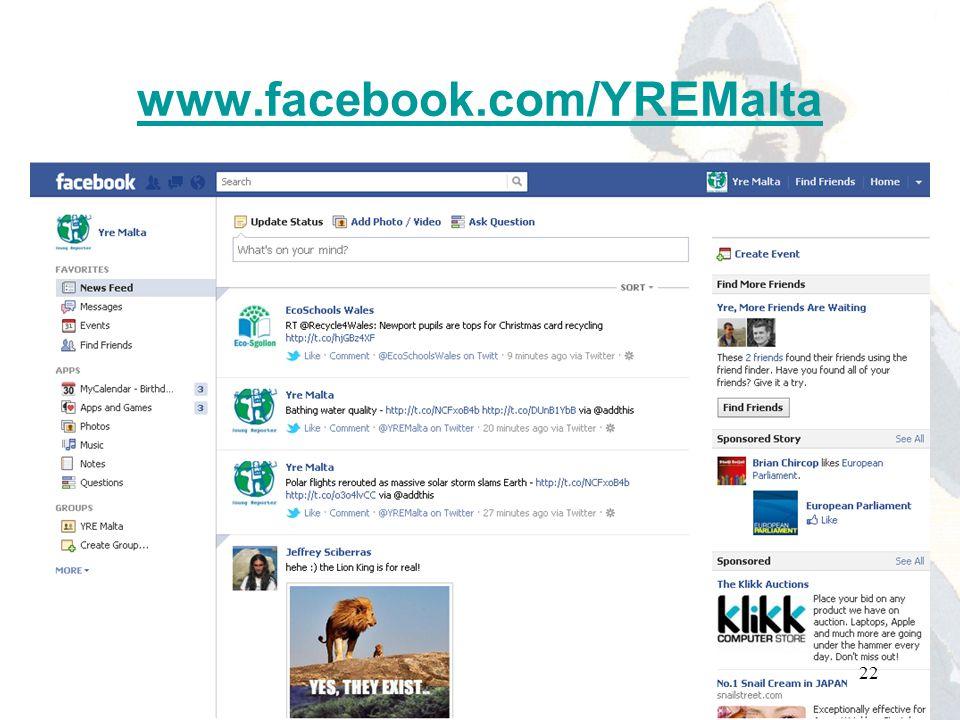 www.facebook.com/YREMalta 22