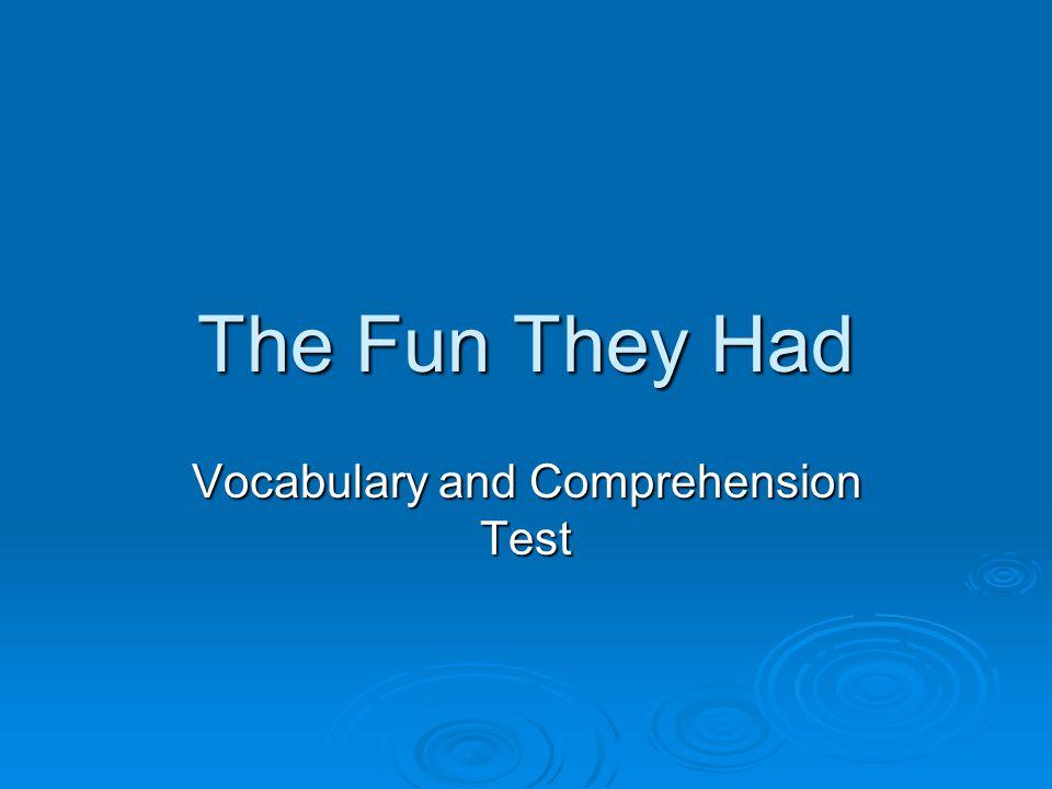 Vocabulary 1.