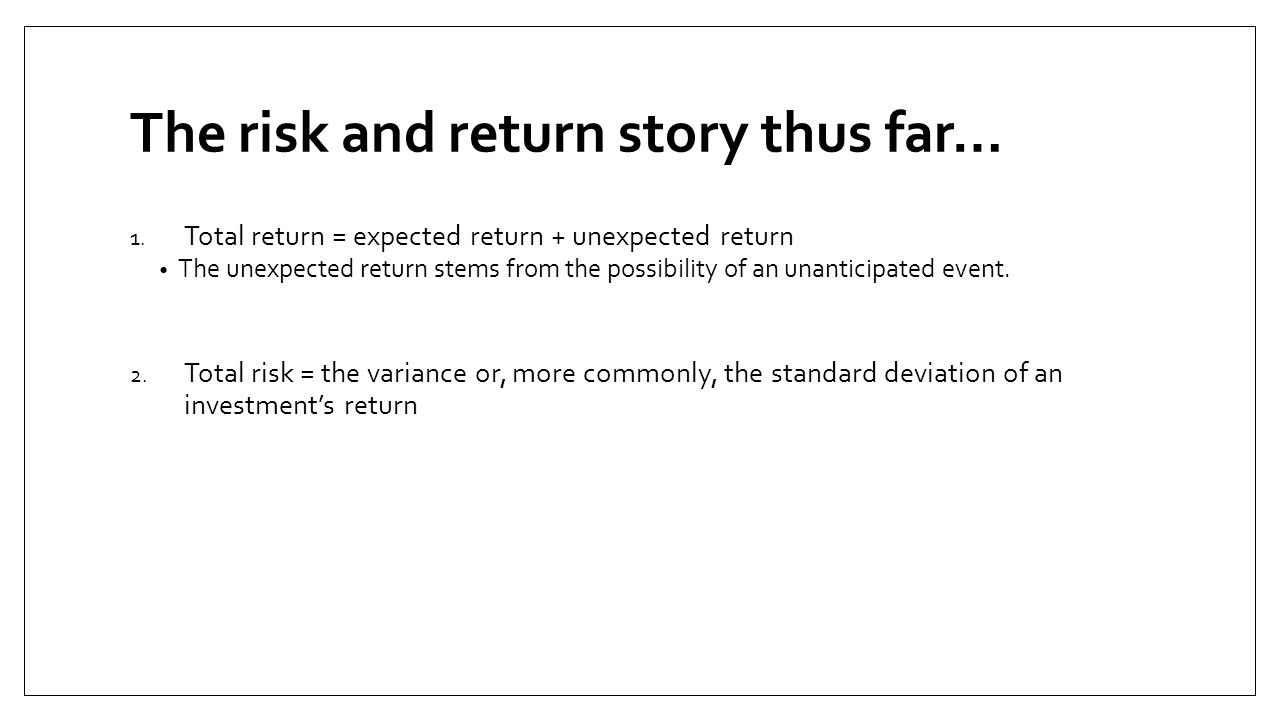 Risk and Return (Continued) 3.