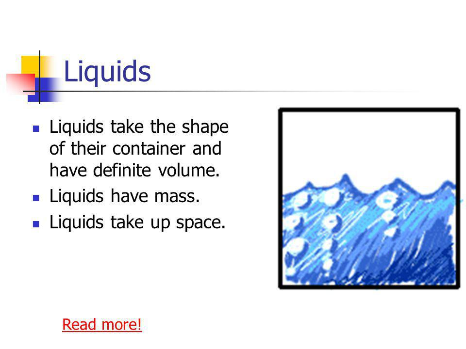 Particles in Solids: Are packed tightly together Have very little energy Vibrate in place